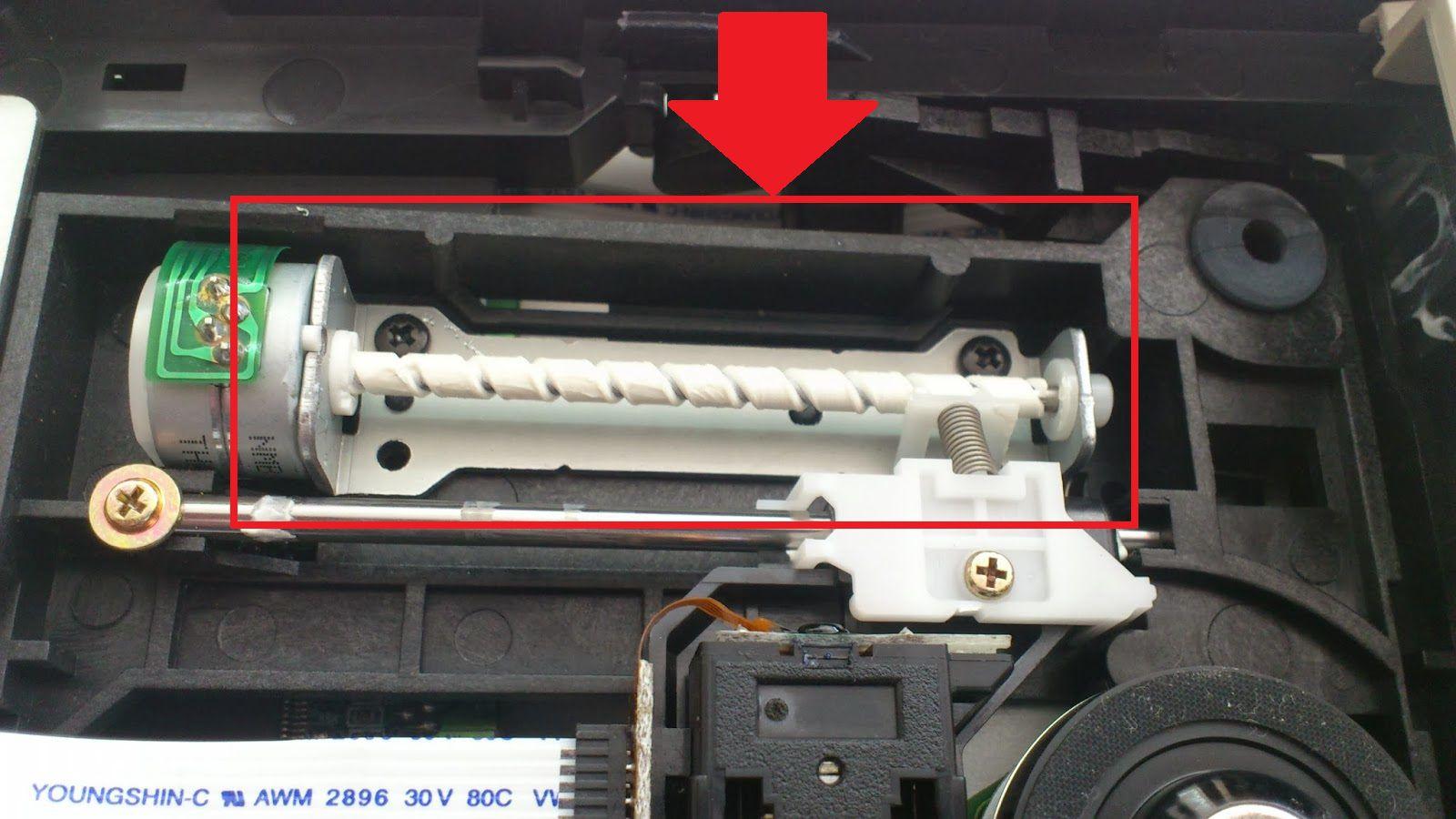 Изнес червечкового механизма DVD привода
