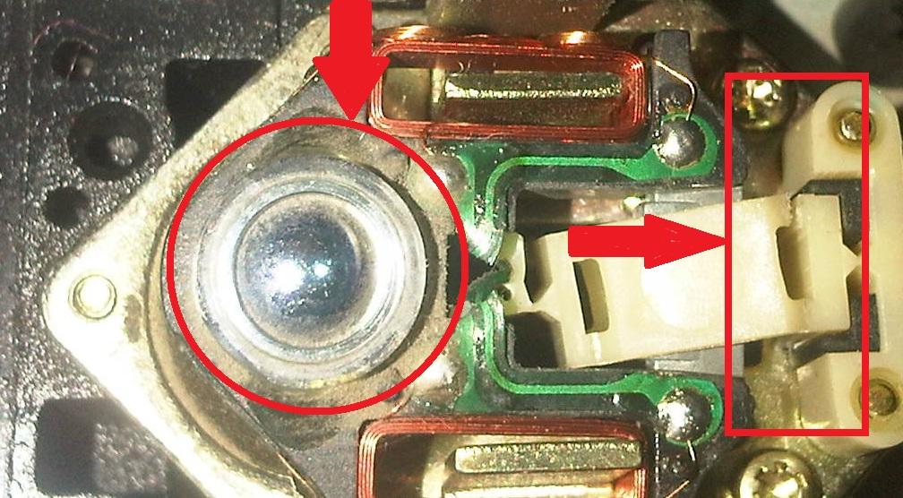 Повреждение головки DVD привода