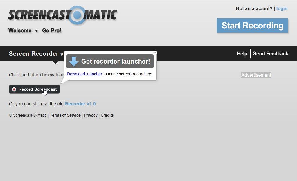 Сервис Screencast-O-Matic для записи видео с экрана