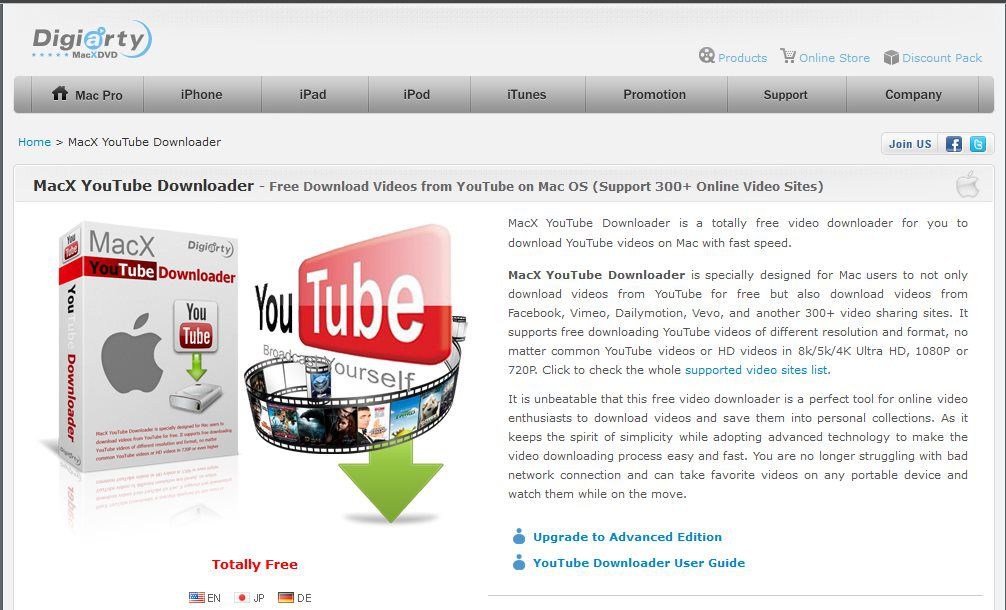 Программа MacX YouTube Downloader