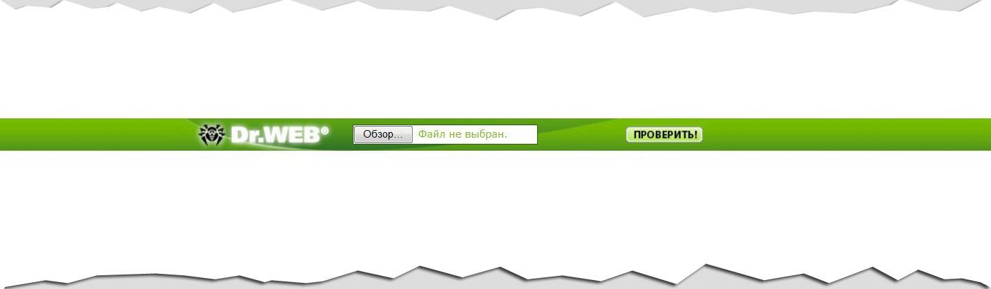 Проверка антивирусом Dr.Web онлайн