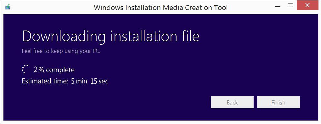 Microsoft Windows Installation Media Creation Tool