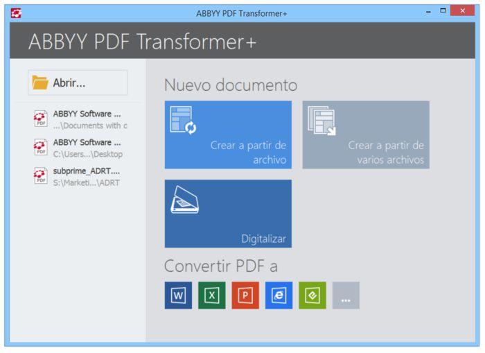 Конвертр PFD файлов ABBYY Transformer