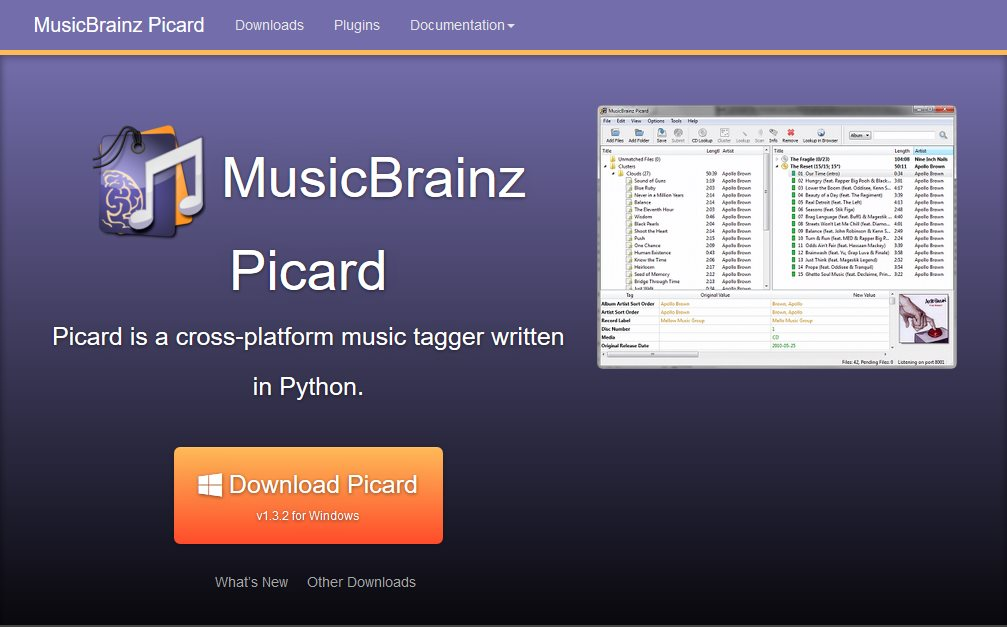 Официальный сайт MusicBrainz Picard