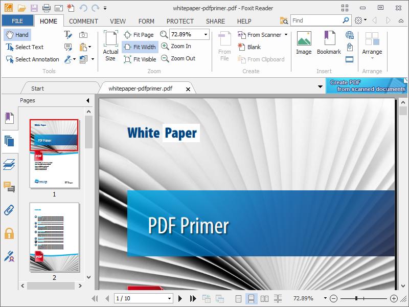 Программа для просмотра PDF Foxit Reader