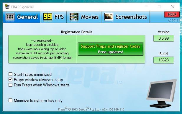 FRAPS запись видео в играх