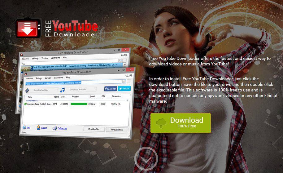 Официальный сайт Free YouTube downloader