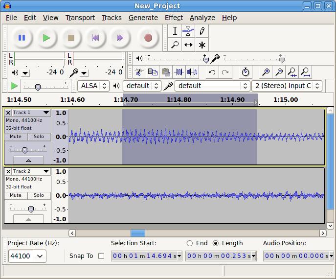 Программа Audacity для работы с аудио файлами